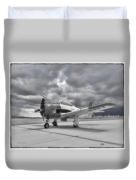 North American T-28 Duvet Cover