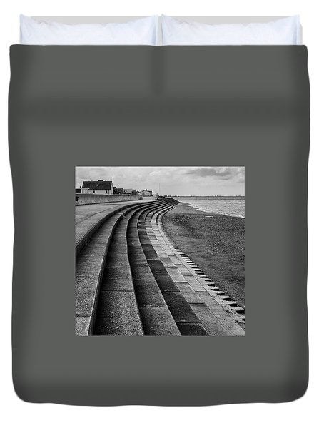North Beach, Heacham, Norfolk, England Duvet Cover by John Edwards