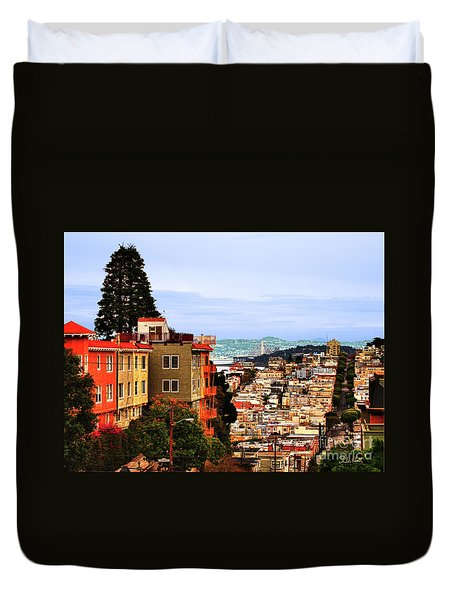 Looking Toward North Beach Duvet Cover