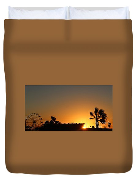 North Beach Sunset Duvet Cover by Thomas OGrady