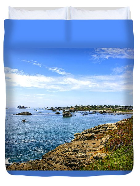 North California Coastline Duvet Cover