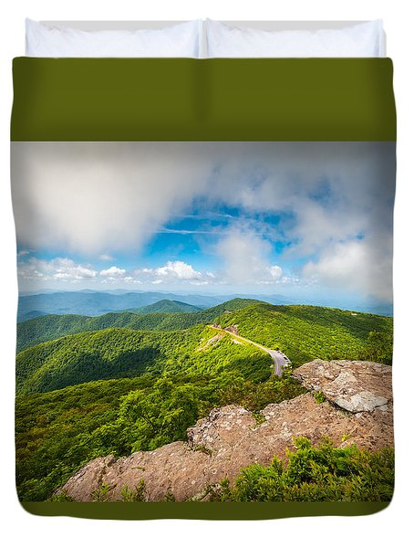 North Carolina Blue Ridge Parkway Asheville Nc Landscape Duvet Cover