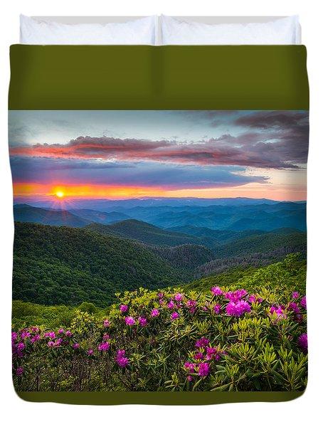 North Carolina Blue Ridge Parkway Landscape Craggy Gardens Nc Duvet Cover