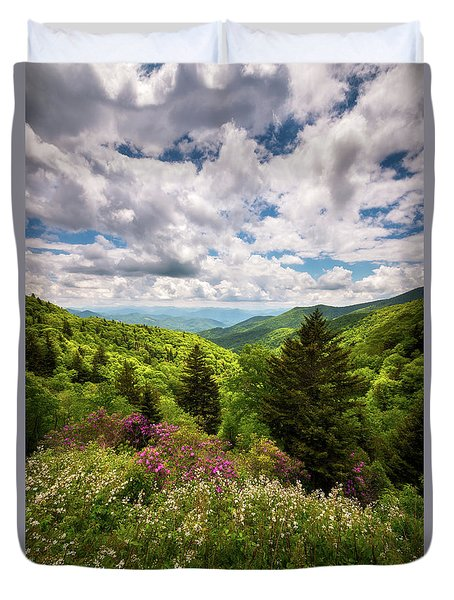 North Carolina Blue Ridge Parkway Scenic Landscape Nc Appalachian Mountains Duvet Cover