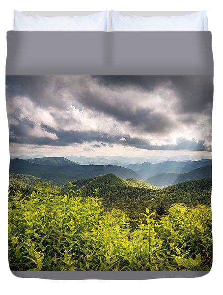 North Carolina Blue Ridge Parkway Scenic Landscape Photography Asheville Nc Duvet Cover