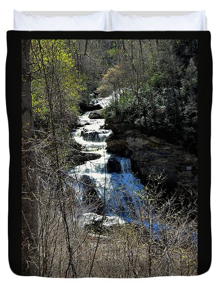 North Carolina Falls Duvet Cover
