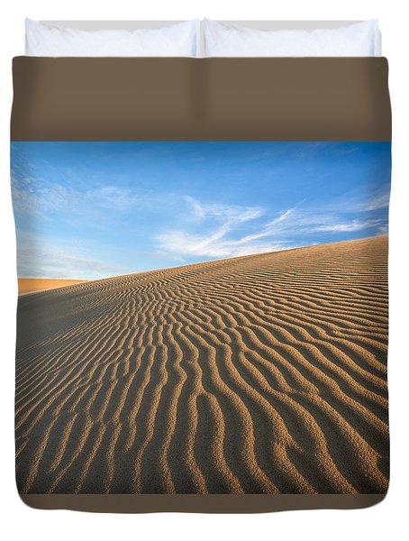 North Carolina Jockey's Ridge State Park Sand Dunes Duvet Cover by Mark VanDyke