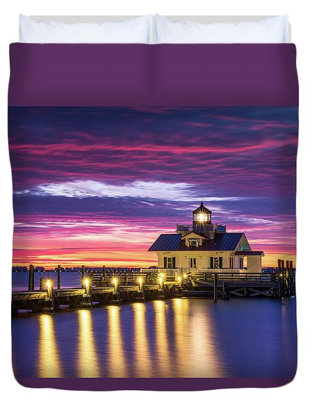 North Carolina Outer Banks Lighthouse Manteo Obx Nc Duvet Cover