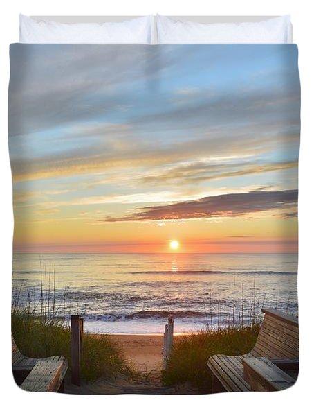 North Carolina Sunrise Duvet Cover