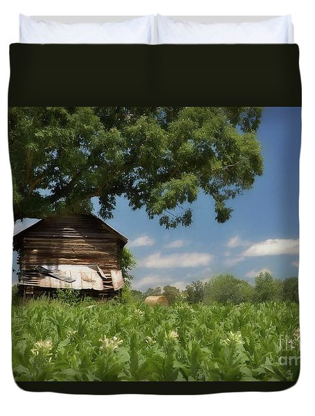 Duvet Cover featuring the photograph North Carolina Tobacco by Benanne Stiens