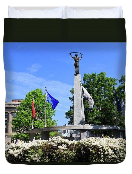 North Carolina Veterans Monument Duvet Cover