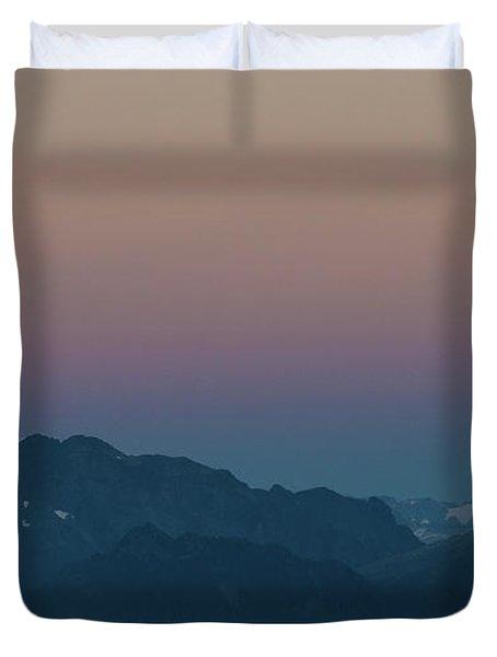 North Cascades Full Moonrise Duvet Cover