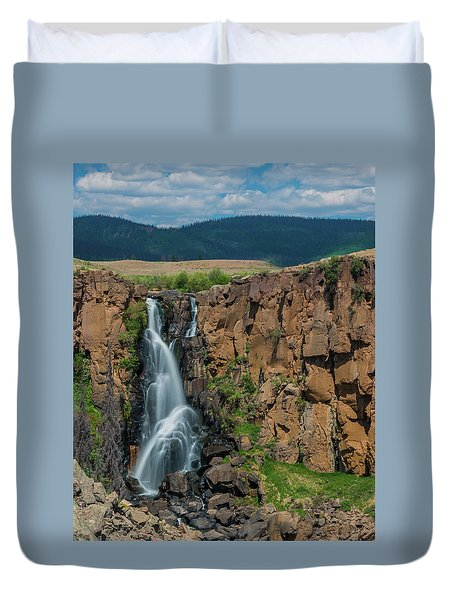 North Clear Creek Falls, Creede, Colorado Duvet Cover