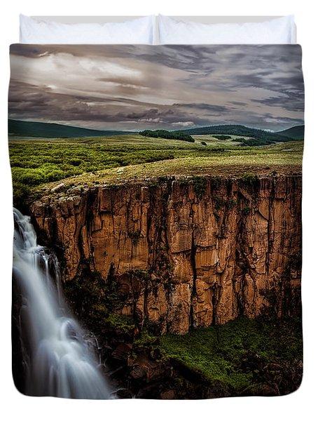 North Clear Creek Falls Duvet Cover