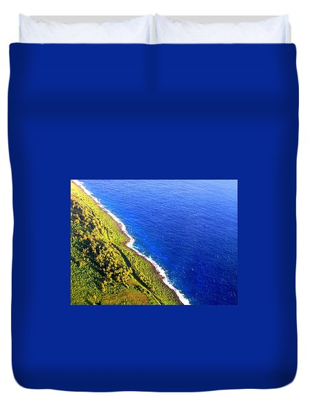 North Coast Of Tinian At Sunrise Duvet Cover