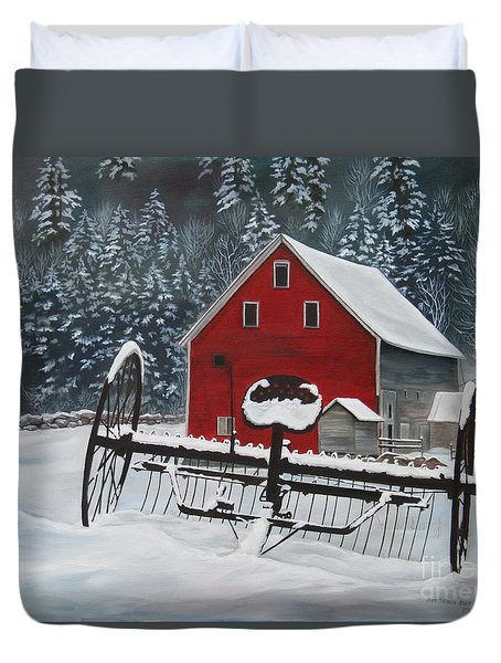 North Country Winter Duvet Cover