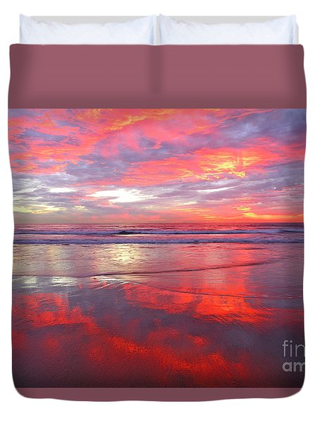 Duvet Cover featuring the photograph North County Afterglow by John F Tsumas
