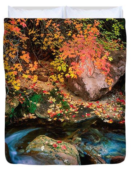 North Creek Fall Foliage Duvet Cover