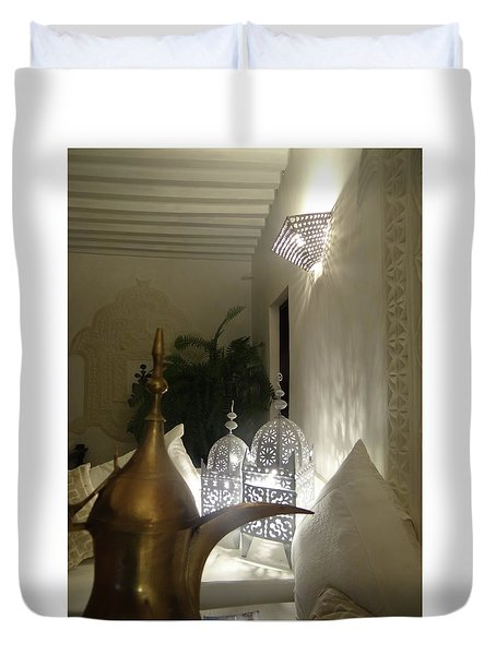 North - Eastern African Home - Lanterns And Jug Duvet Cover
