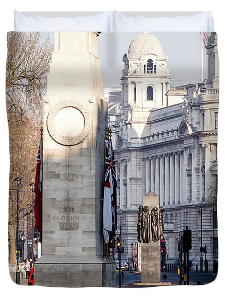 North Facade Of Cenotaph War Memorial Whitehall London Duvet Cover