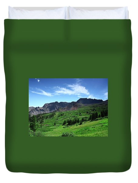North Fork Lake Duvet Cover