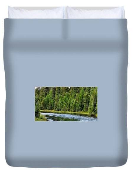 North Fork Of The Flathead Duvet Cover