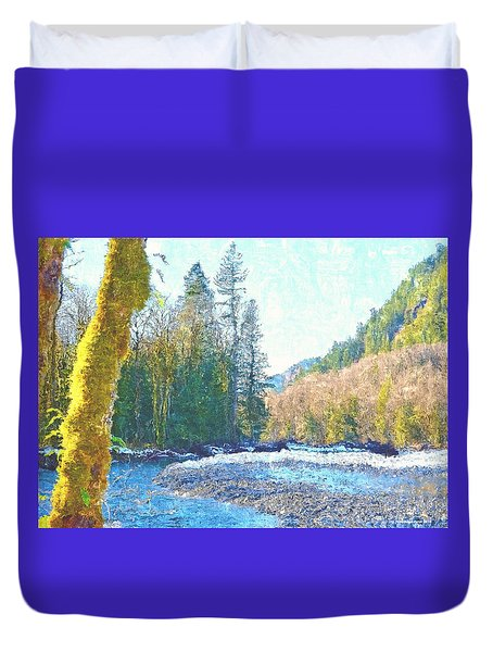 North Fork Of The Skykomish River Duvet Cover