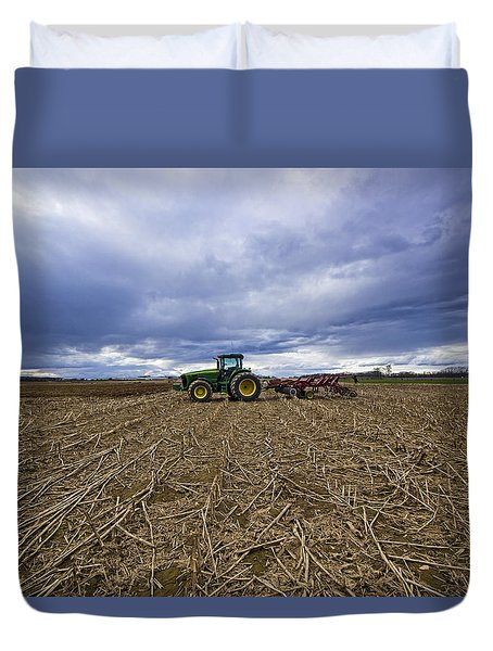 North Fork Tractor Duvet Cover
