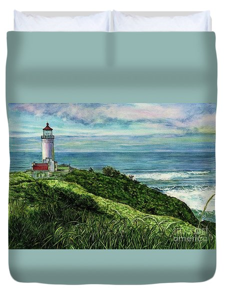 North Head Lighthouse And Beyond Duvet Cover