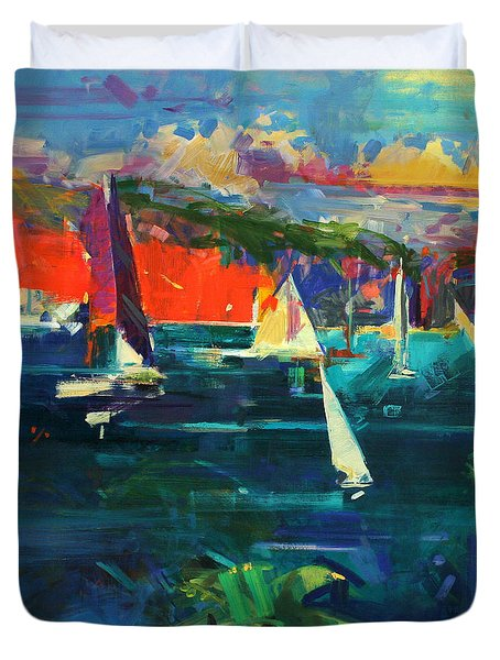 North Head  Sydney Harbour Duvet Cover by Peter Graham
