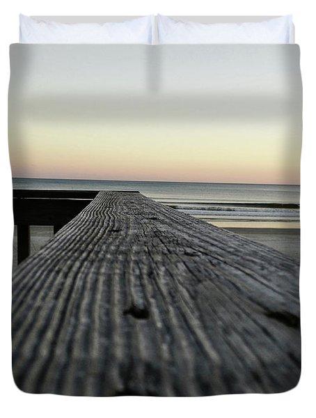 North Myrtle Beach Evening Duvet Cover
