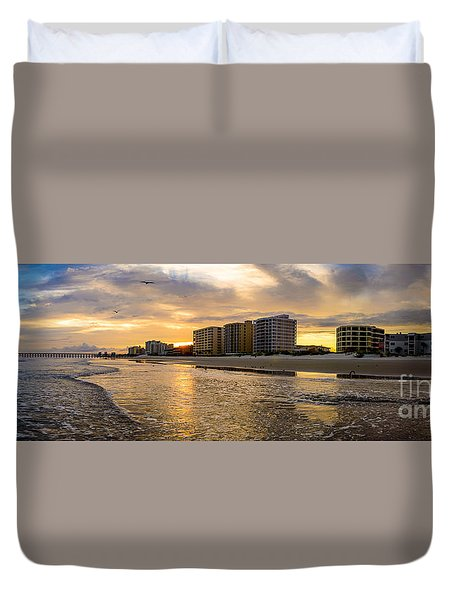 North Myrtle Beach Sunset Duvet Cover