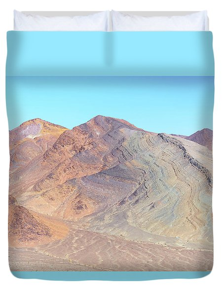 Duvet Cover featuring the photograph North Of Avawatz Mountain by Jim Thompson