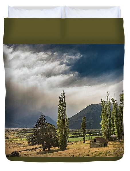 Duvet Cover featuring the photograph North Of Glenorchy by Gary Eason