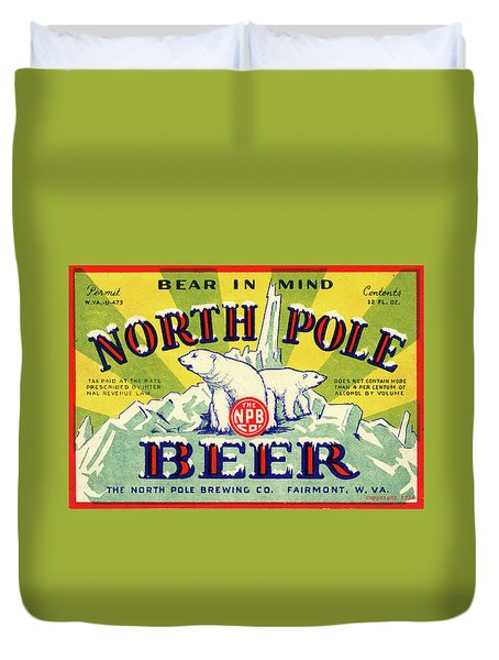 North Pole Beer Duvet Cover