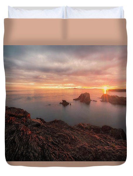 North Puget Sound Sunset Duvet Cover