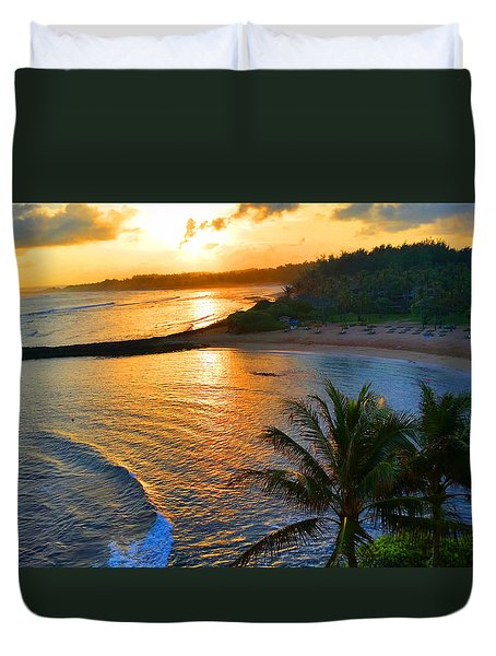 North Shore Of Oahu  Duvet Cover by Michael Rucker