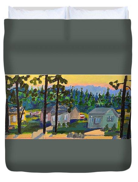 North Shore Duvet Cover by Rodger Ellingson