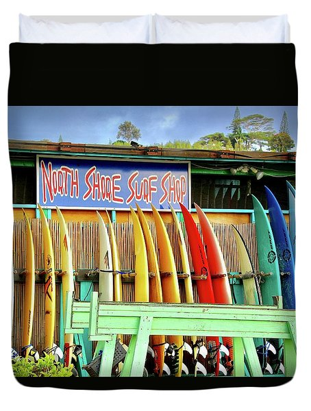 North Shore Surf Shop 1 Duvet Cover by Jim Albritton