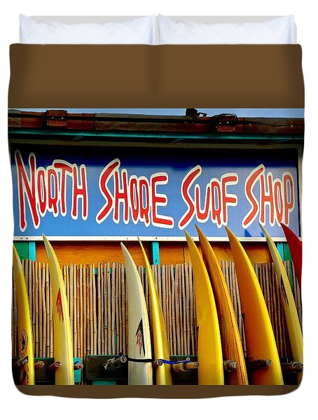 North Shore Surf Shop 2 Duvet Cover by Jim Albritton