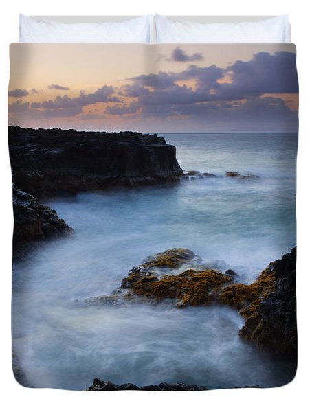 North Shore Tides Duvet Cover by Mike  Dawson