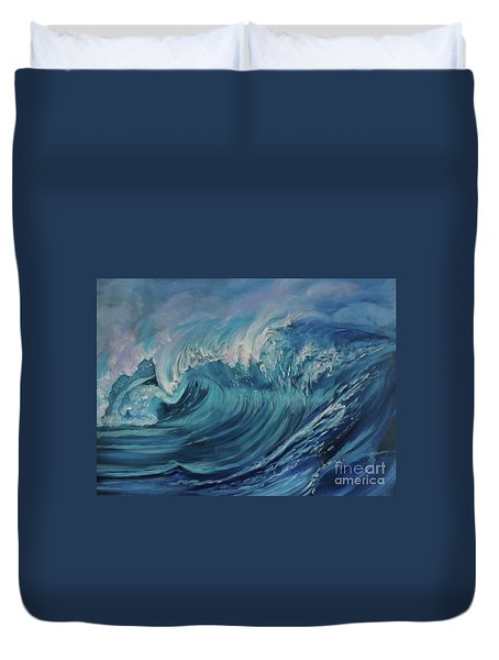 North Shore Wave Oahu Duvet Cover
