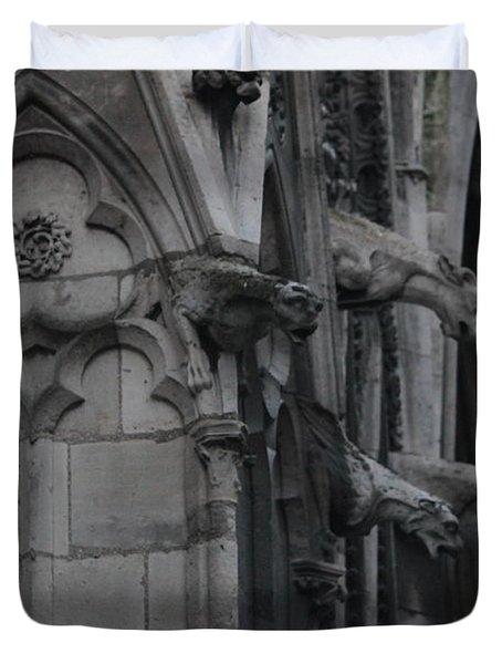 North Side Notre Dame Cathedral Duvet Cover