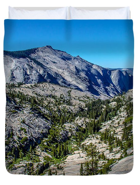 North Side Of Half Dome Valley Duvet Cover by Brian Williamson