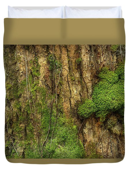 Duvet Cover featuring the photograph North Side Of The Tree by Mike Eingle