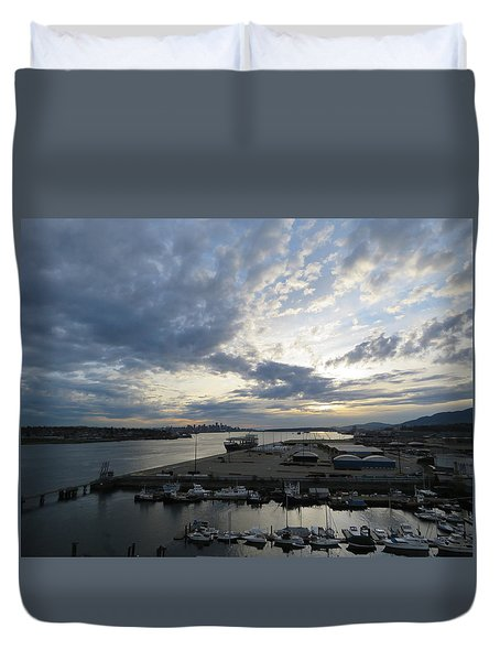 North Vancouver And Vancouver Duvet Cover