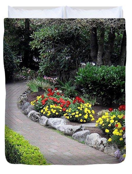 North Vancouver Garden Duvet Cover by Will Borden