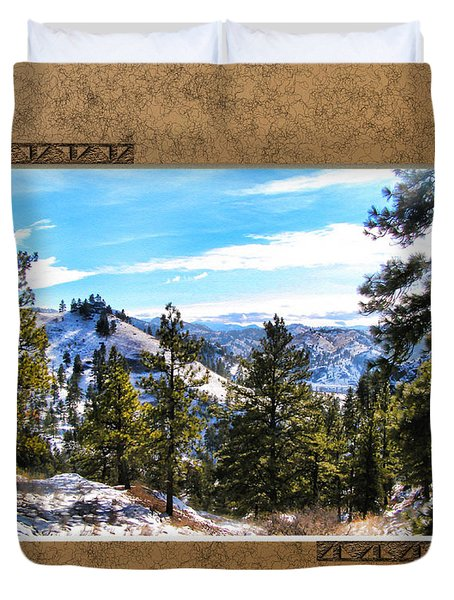 Duvet Cover featuring the photograph North View by Susan Kinney