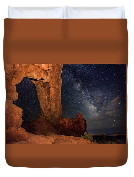 North Window And The Milky Way Duvet Cover