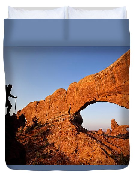 North Window Arch Duvet Cover